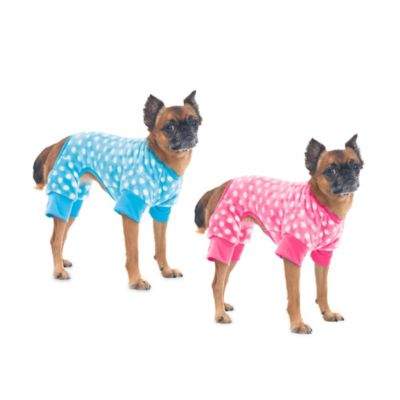 Extra-Small Dot Print Pet Cozy Fleece Sleeper in Blue