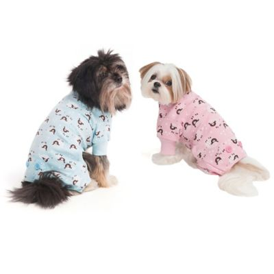 Extra-Small Lamb Print Pet Pajamas in Pink