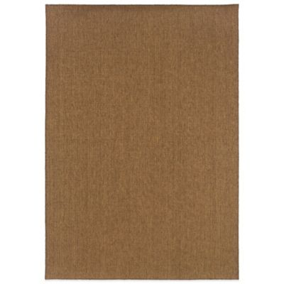 Oriental Weavers Santiago 2-Foot 5-Inch x 3-Foot 9-Inch Indoor/Outdoor Accent Rug in Brown
