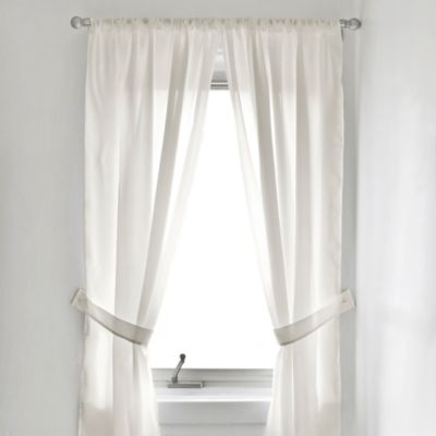 Fabric Window Curtain Panel Pair in Ivory