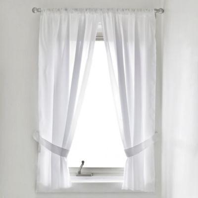 White Curtain Panel Pair