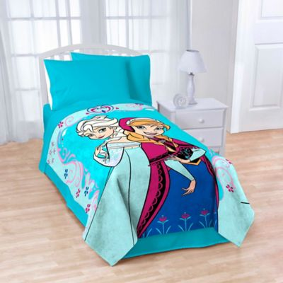 Disney® Frozen Springtime Floral Fleece Throw
