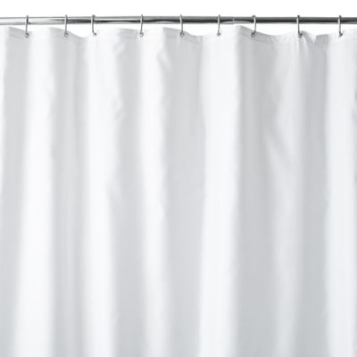 72 x 84 White Fabric Shower Curtain
