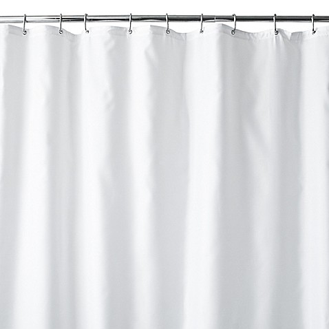 Hotel Fabric 144-Inch x 72-Inch Extra Wide Shower Curtain Liner in White