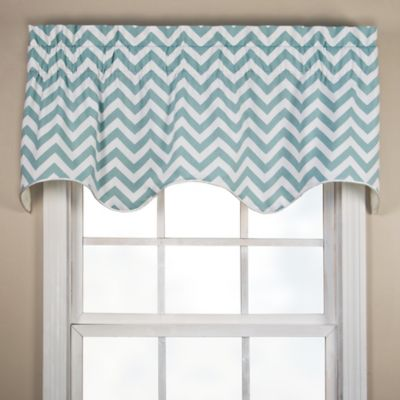 Reston Scalloped Valance in Turquoise