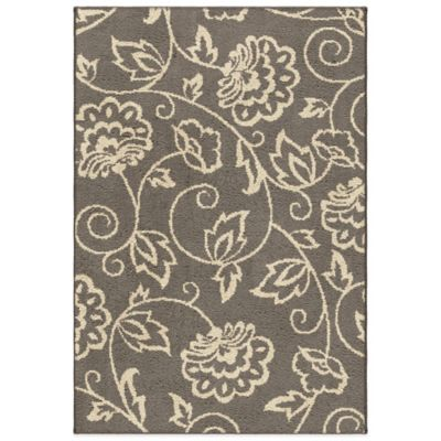 Orian Carolina Fleece Collection Abby 2-Foot 7-Inch x 3-Foot 9-Inch Rug in Grey
