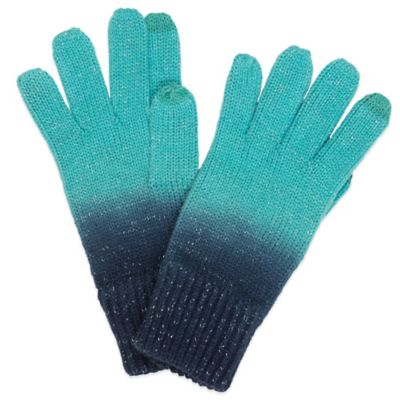 Dip Dye Tech Gloves in Black