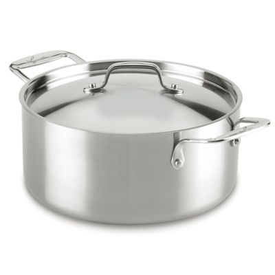 Lagostina Axia 5-Quart Tri-Ply Stainless Steel Covered Stewpot