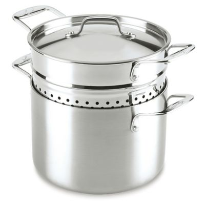 Lagostina Axia 6-Quart Tri-Ply Stainless Steel Pastaiola Set