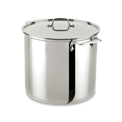 All-Clad® 3-Ply Stainless Steel 16-Quart Covered Stockpot