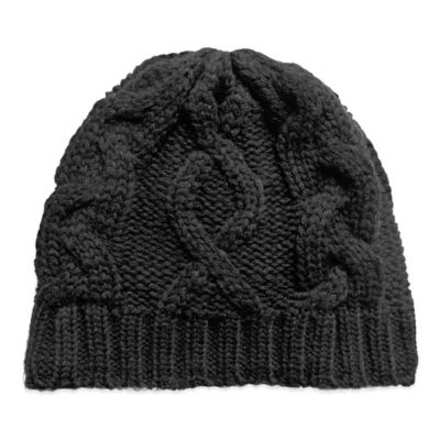 Women's Cable Knit Skull Cap Hat in Berry