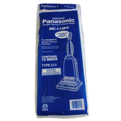 Panasonic® 12-Pack U-3 Replacement Bags for Upright Vacuums