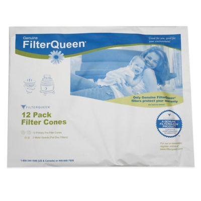 Filter Queen 12-Pack Filter Cones with 2-Disc Filter Paper Bag