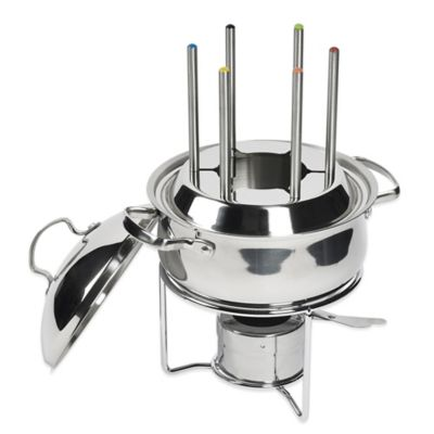 Steel Chocolate Fondue Set