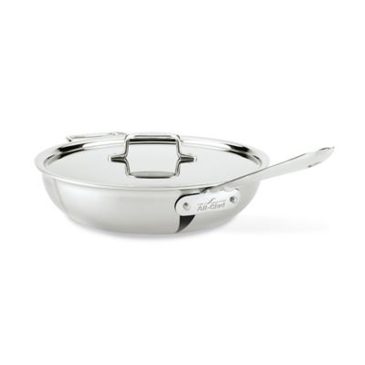 All-Clad d5 Brushed Stainless Steel 4-Quart Covered Weeknight Pan