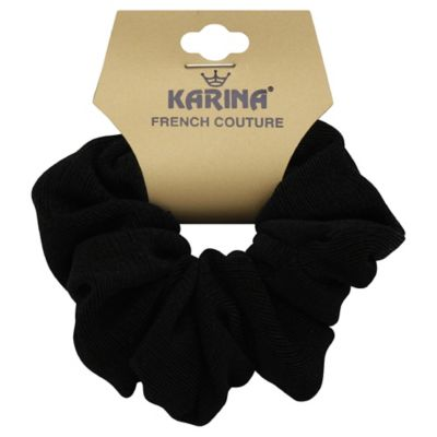 Karina French Couture Hair Scrunchie in Black