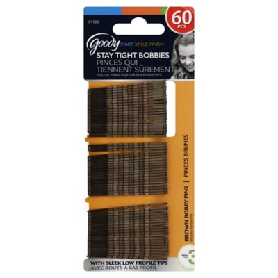 60-Count Bobby Pins in Brown
