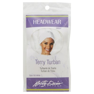 Betty Dain Terry Turban in White