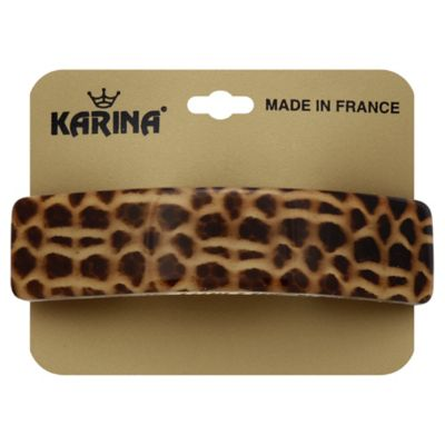 Karina French Couture Curved Giraffe Print Barrette