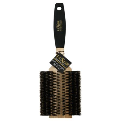 J&D Extra-Large Round 100% Boar Bristle with Foam Handle Brush