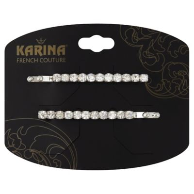 Karina French Couture 2-Count Rhinestone Bobby Pins