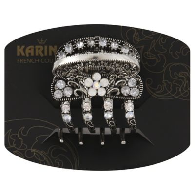 Karina French Couture Metal Crystal Flower Hair Clawclip