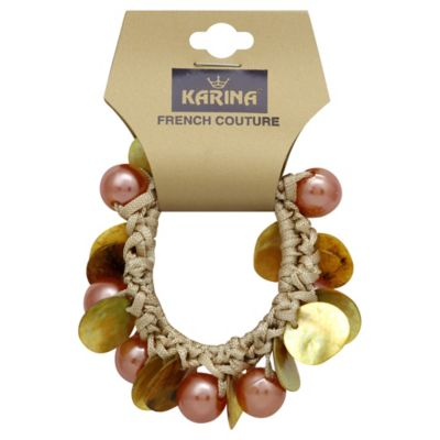 Karina French Couture Topaz/Pearl Ponytail Holder