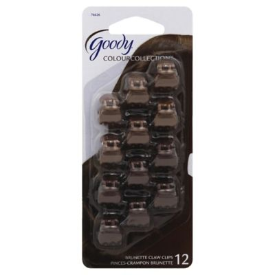 Goody® Colour Collection™ 12-Pack Mini Claw Clip in Brunette