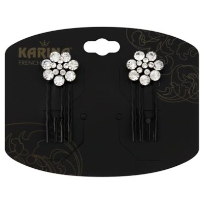 Karina French Couture 2-Count Crystal Flower Comb