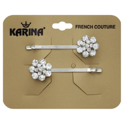 Karina French Couture 2-Pack Crystal Flower Bobbies