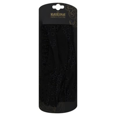Karina® French Couture Eyelet Head Wrap in Black