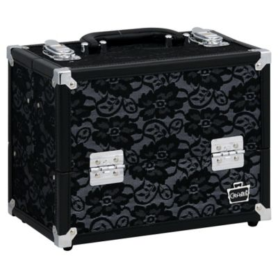 Caboodles® Medium Train Case in Black Lace