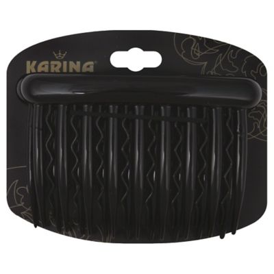 Karina 3-Inch Side Comb in Black