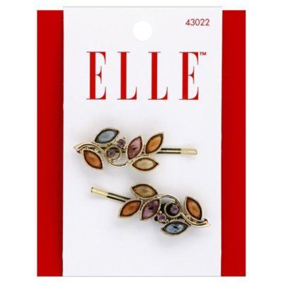 Elle 2-Pack Gold Stone Flower Bobby Pins