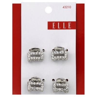 Elle 4-Pack Mini Metal Stone Jaw Clip