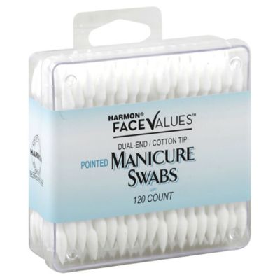 Harmon® Face Values™ 120-Count Dual-End Cotton Tip Pointed Manicure Swabs