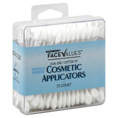 Harmon® Face Values™ 75-Count Dual-End Cotton Tip Cosmetic Applicators
