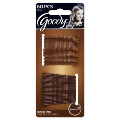 Goody® Colour Collection™ 50-Count Brunette Bobby Pins
