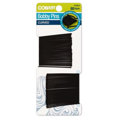 Conair® 60-Count Curved Bobby Pins in Black