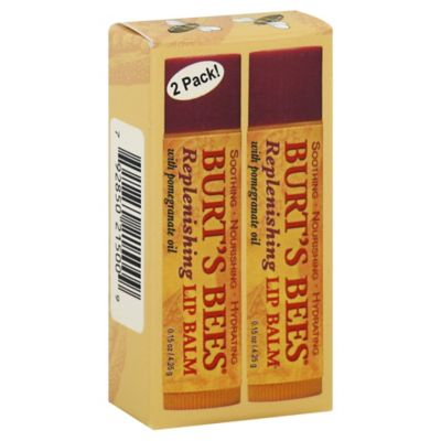Burt's Bees 2-Pack Replenishing .15 oz. Lip Balm with Pomegranate Oil