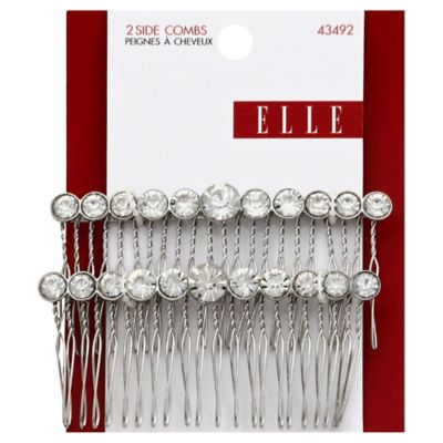 Elle 2-Pack Large Rhinestone Side Comb