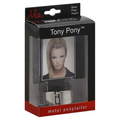 Mia Tony Pony Metal Ponytailer in Silver