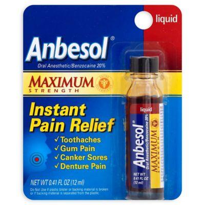 Anbesol® Maximum Strength 0.41 oz. Instant Pain Relief Liquid