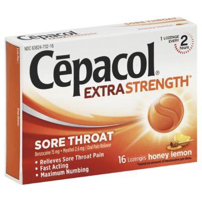 Cepacol® Extra Strength 16-Count Sore Throat Lozenges in Honey Lemon