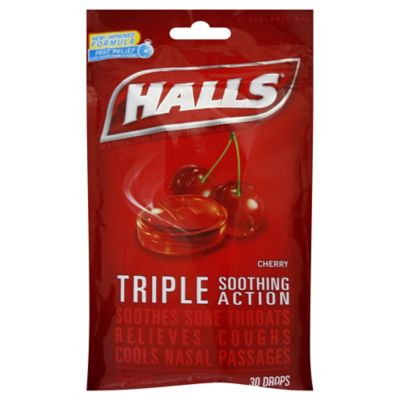 Halls 30-Count Mentholyptus Cough Drops in Cherry
