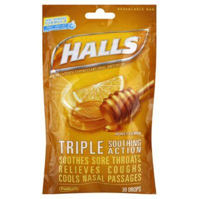Halls 30-Count Mentholyptus Cough Drops in Honey Lemon