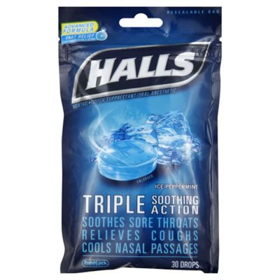 Halls 30-Count Menthol Cough Drops in Ice Blue