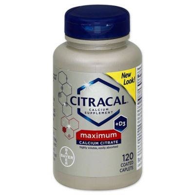Citracal Calcium Citrate + D 120-Count Caplets
