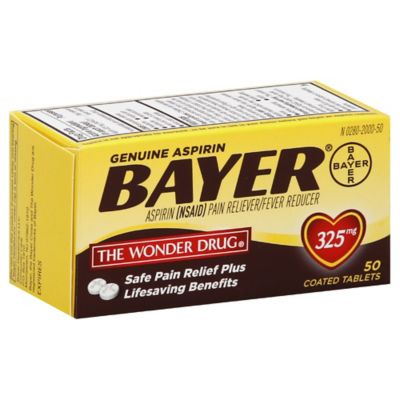 Bayer® 50-Count 325 mg Aspirin Tablets