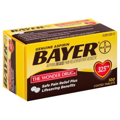Bayer® 100-Count 325 mg Aspirin Tablets